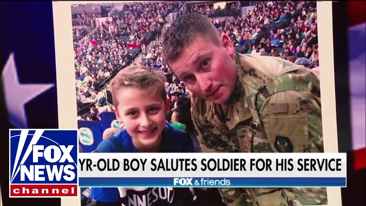 Thanking soldier for his service