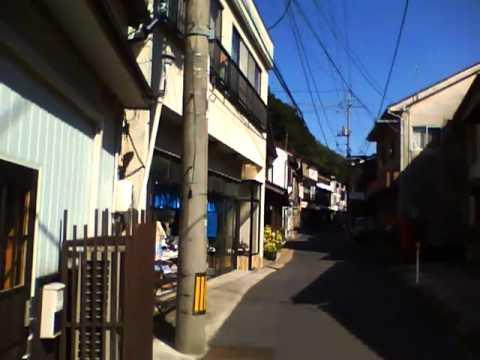 島根県温泉津温泉の町並み Yunotu spa