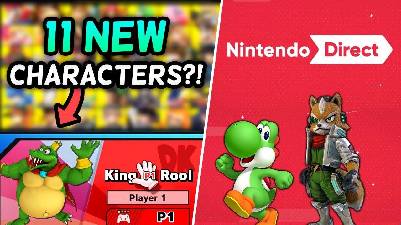 11 NEW Super Smash Bros. Ultimate Characters & A Nintendo Direct?! [Rumor]