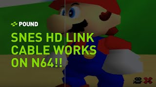 The SNES HD Link cable works with RGB Modded N64s!
