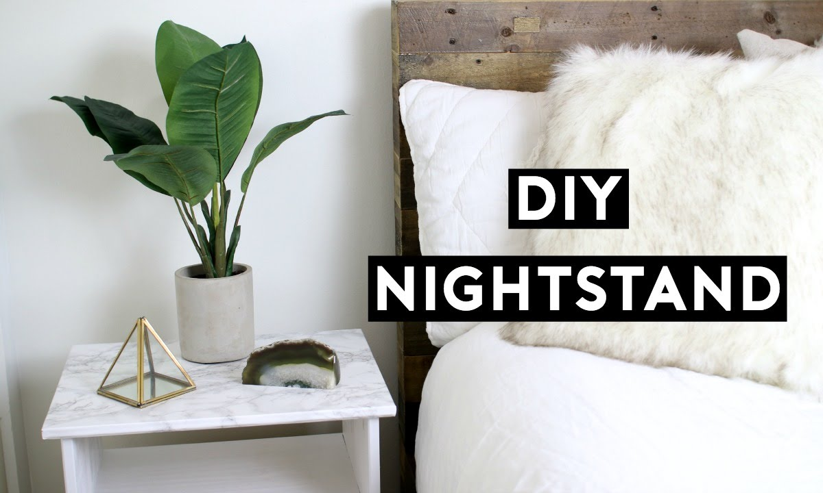 Cheap Nightstand Ideas Part - 33: DIY Marble Nightstand! Affordable Room Decor! Simple Ikea Hack! Tumblr  Inspired! - YouTube
