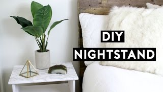 DIY Marble Nightstand! Affordable Room Decor! Simple Ikea Hack! Tumblr Inspired!
