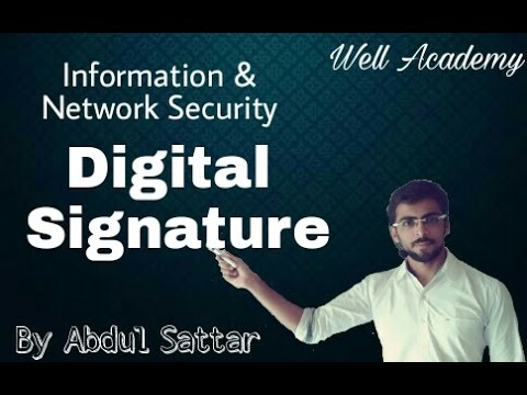 Information & Network Security Lecture - -  Digital Signature (Eng-Hindi)