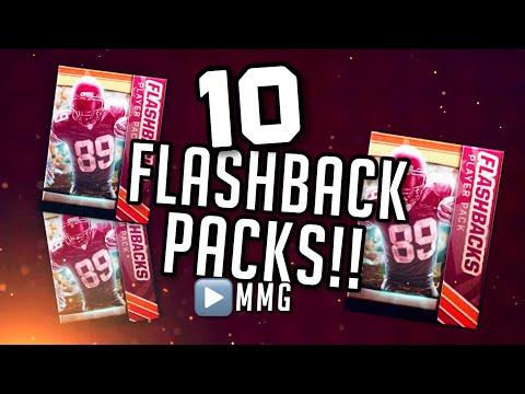 10 FLASHBACK PACKS! Madden Mobile