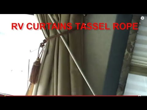 HOW TO HOLD MOTORHOME CURTAINS WITH TASSEL ROPES GREAT FOR RV