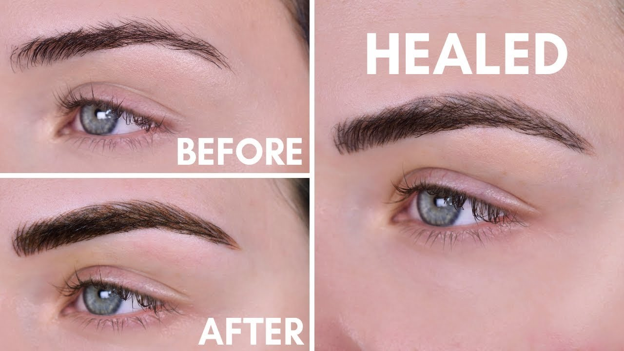 Microblading Experience | Before & After | 10 Day Healing Process - YouTube
