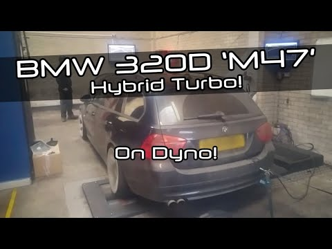 BMW 320d 163hp with hybrid turbo on the Dyno at DervTech