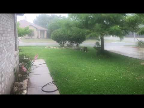 May 2017 hail in Round Rock, Texas