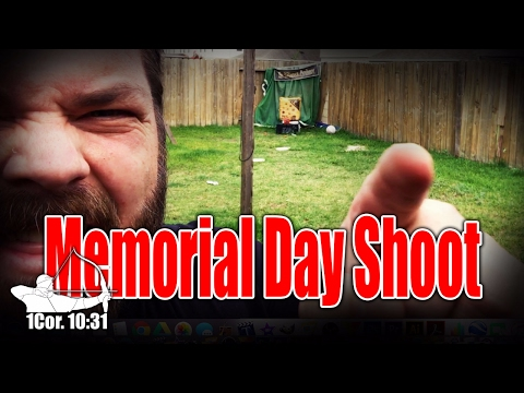 Practicing a Byron Ferguson trick shot on Memorial Day 2017!