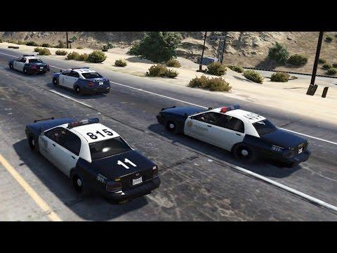 GTA 5 - Jogando como Policial!? (GTA V PC Gameplay - MOD LSPDFR)