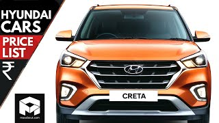 Hyundai Cars Price List [2018]