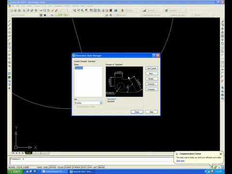 Ghi kich thuoc trong CAD - cơ bản