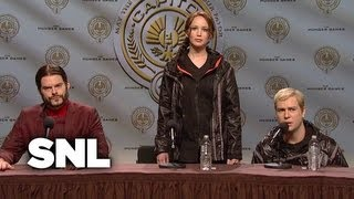 Hunger Games Press Conference - Saturday Night Live
