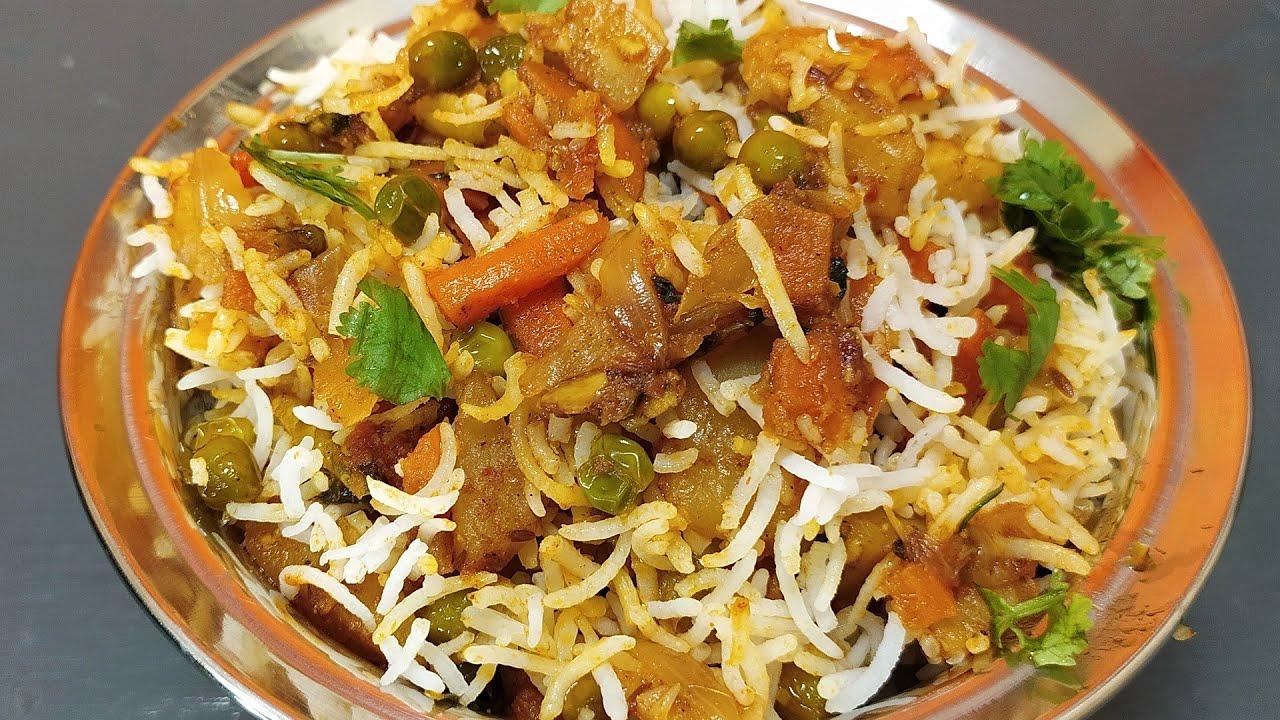 Quick Easy And Simple Veg Biryani Recipe | Vegetable Biryani | Restaurent Style Vegetable Biryani