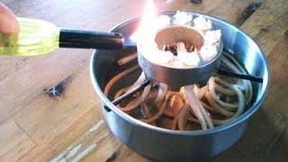 ストーブ・コンロ点火消火(植物油燃料)Fire to a stove lamp and put out fire. thumbnail