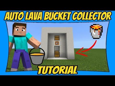 Automatic Lava Bucket Collector Tutorial [Minecraft Bedrock Edition] [MCPE]