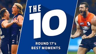 The 10 best moments from round 17 | 2018 | AFL