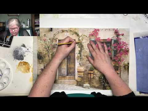 Tuscan House – Beginners Acrylics – Part 1