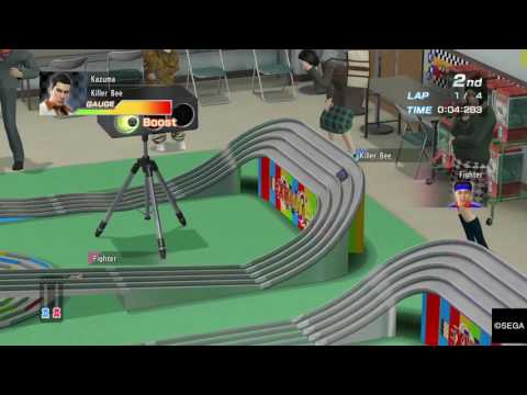Yakuza 0 beating Pocket Circuit Fighter – Pocket Racing Car Set-up
