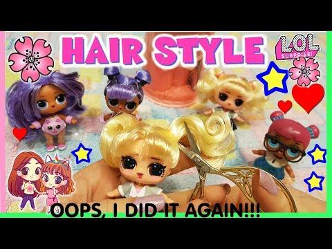 LOL SURPRISE Oops Baby MAKEOVER HAIR CUT!!! Il TAGLIO DEI CAPELLI TUTORIAL! by Lara e Babou