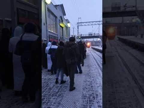 Ежедневная толкучка на ст. Северянин Ярославского направления