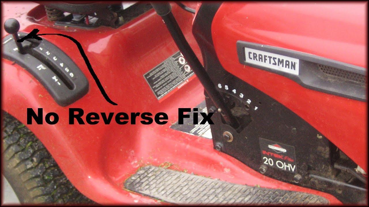 No Reverse Fix On A Craftsman Lt 3000 Lawn Tractor Transmission Adjustment