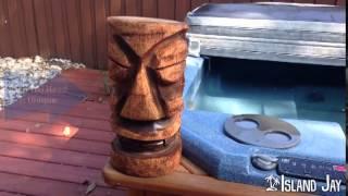 Hand Carved Tiki Head