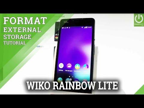 Erase SD Card / Format External Storage in WIKO Rainbow Lite