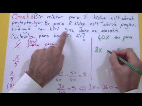 Sayı problemleri Şenol Hoca Matematik