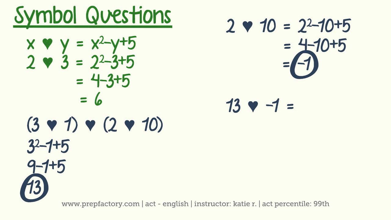 Act math algebra symbol and inequality questions youtube act math algebra symbol and inequality questions biocorpaavc Choice Image