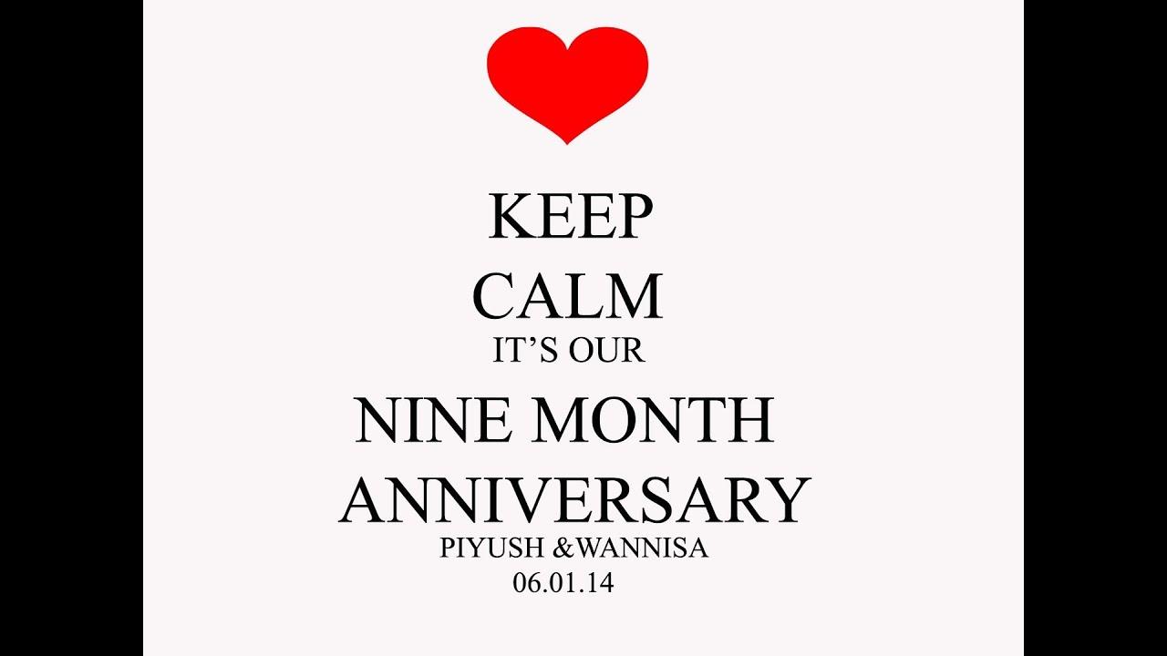 Happy Anniversary 9 Month Wannisa Amp Piyush