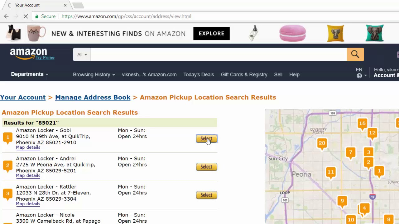 How to add Amazon Locker Pickup locations on Amazon Address Book to deliver  your packages