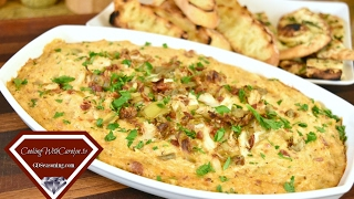 Warm Crab, Artichoke and Bacon Dip Recipe Cheesecake Factory For What? Super Bowl Party Recipe