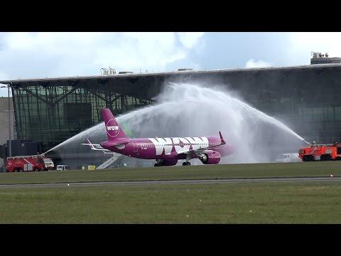AVIATION - Cork Airport 19.05.2017 WOW air Inaugural flight Reykjavik - Cork - Reykjavik