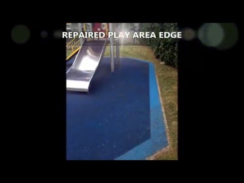 Cowley Road Wet Pour Floor Edging Refurbishment