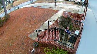Kind Military Stranger Folds Damaged Flag || ViralHog