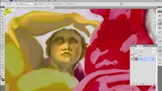 Painting Cherub No. 1 in Michelangelo