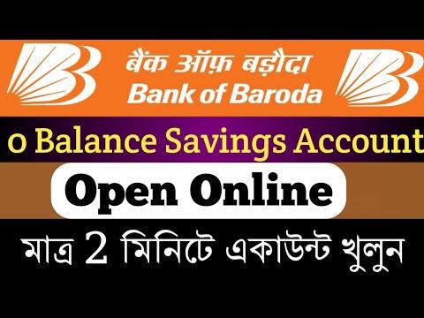 bank of baroda saving account zero balance
