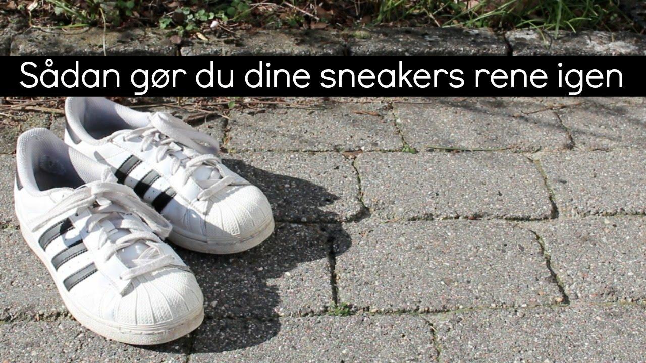 Sådan rengør du dine sneakers   IN