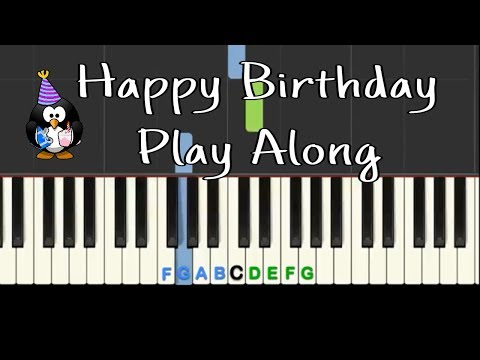 Happy Birthday: Play Along piano with backing track