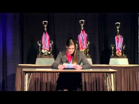 IHSA 2013 State Champion Radio Speaking