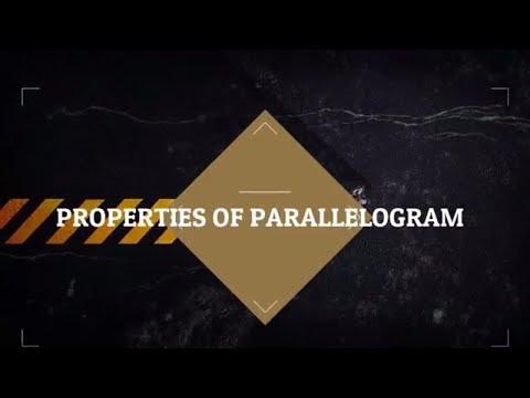 Understanding Quadrilaterals : Properties of Parallelogram