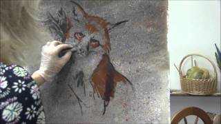 Fox Painting Progression Pastel Time Lapse