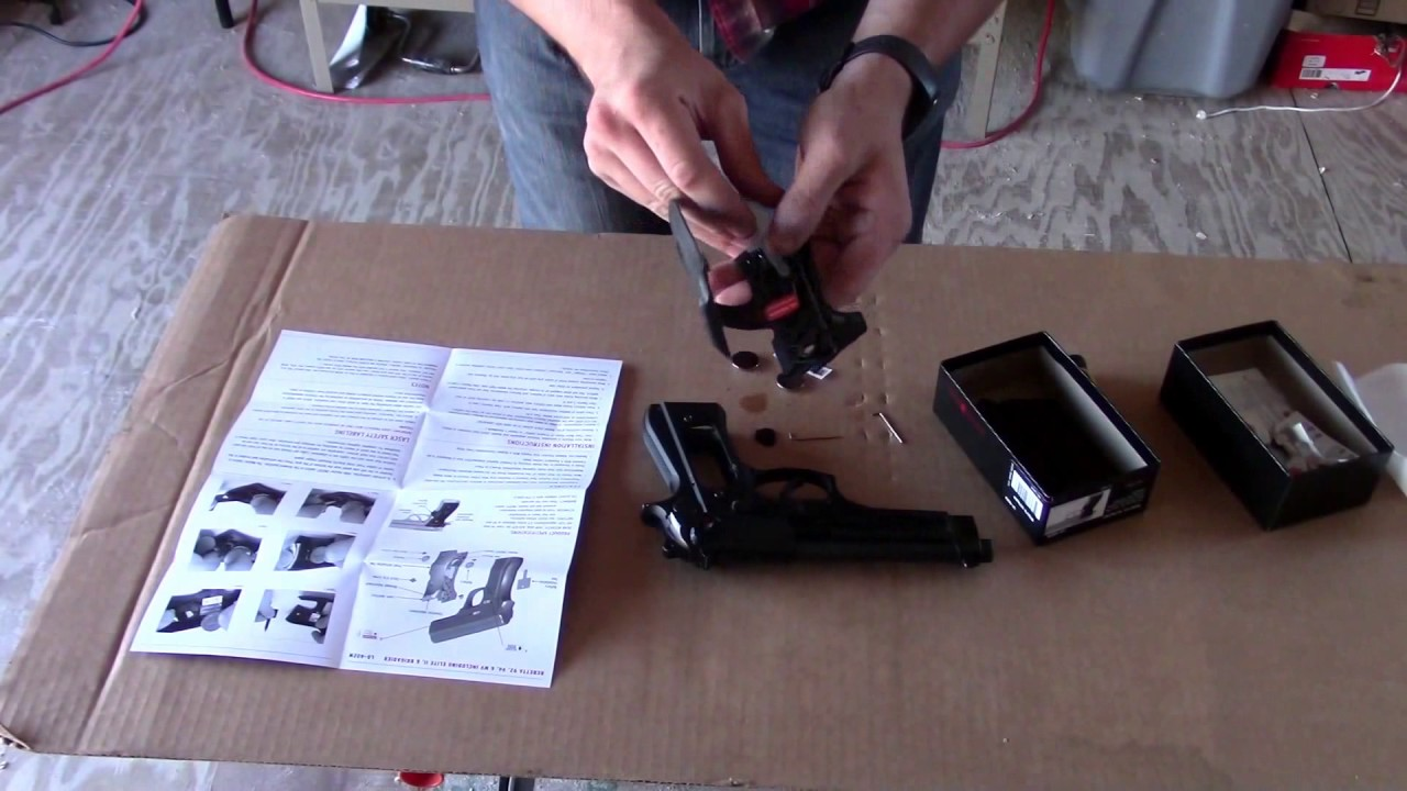 Installing Crimson Trace Laser Grips LG-402M on a Beretta 92FS and first  impressions