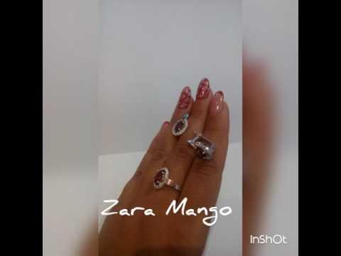 Zara Mango серебро 925 золото 375 кольцо серьги набор комплект