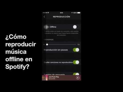 ¿Cómo reproducir música offline en Spotify?