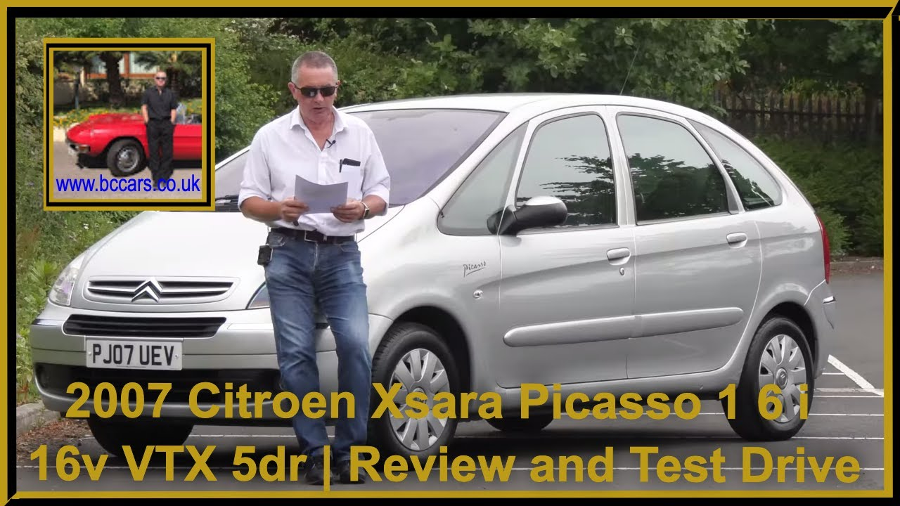 Review and Virtual Video Test Drive In Our 2007 Citroen Xsara Picasso 1 6 i 16v VTX 5dr PJ07UEV 2