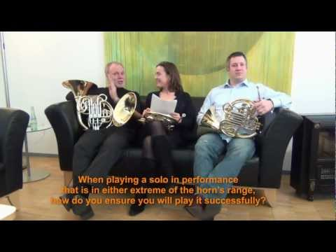 Members of the Berlin Philharmonic Horn Section: Q&A