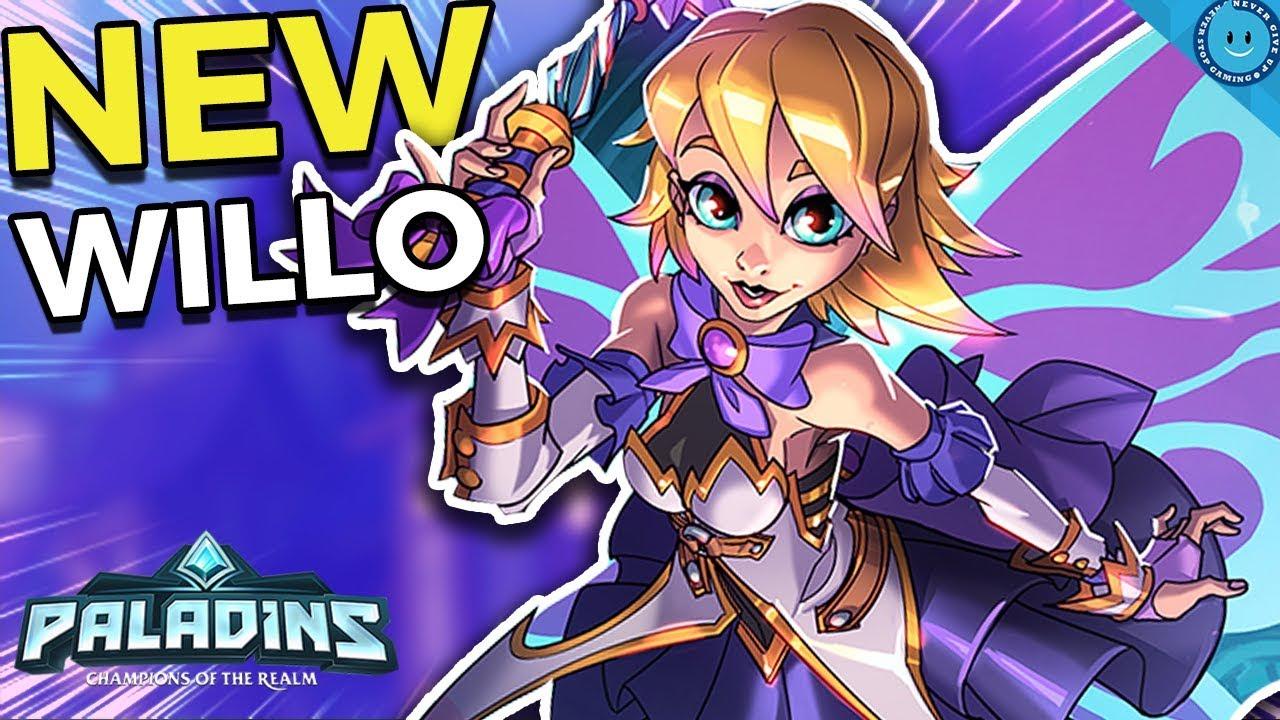 LIGHTNING WILLO! MAX MOVE SPEED - 80%! NEW SUGAR PLUM WILLO SKIN GAMEPLAY!  (Paladins 1 9 Update)