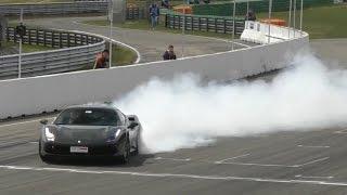Ferrari 488 GTB - Crazy BURNOUT, DONUTS & LOUD Accelerations!